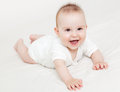 Cute baby smiling adorable months old laughing Royalty Free Stock Image