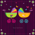 Cute baby strollers Royalty Free Stock Photo