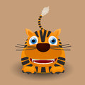 Cute baby tiger cartoon design Stock Photos