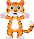 Cute baby tiger cartoon Royalty Free Stock Photo
