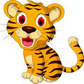 Cute baby tiger posing illustration of Royalty Free Stock Photography