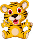 Cute baby tiger posing illustration of Stock Images