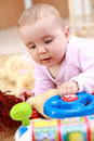 Cute baby with toy Royalty Free Stock Image