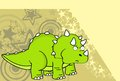 Cute baby triceratops cartoon expressions background1 Royalty Free Stock Photo