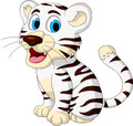 Cute baby white tiger posing illustration of Stock Image