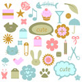 Cute babyish elements Stock Photography