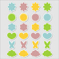 Cute babyish stickers set Royalty Free Stock Photography