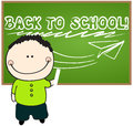Cute back to school illustration Royalty Free Stock Photos