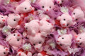 Cute background from bears with flowers Royalty Free Stock Image