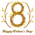Cute background greeting card, Happy Women`s Day
