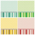 Cute backgrounds in different colors a set of color variations Royalty Free Stock Photography