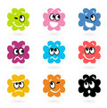 Cute bacteria or monster vector collection Stock Images