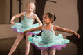 Cute Ballet Students Twirling Royalty Free Stock Image