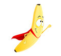 Cute banana superhero Royalty Free Stock Images