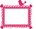 Cute  banner frame with bird Royalty Free Stock Photos