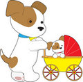 Cute bay Baby Carriage Stock Images