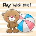Cute Bear with a ball
