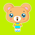 Cute bear boy kawaii vector character Royalty Free Stock Image