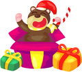 Cute bear with new year presents Royalty Free Stock Photography