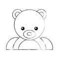 Cute bear teddy icon