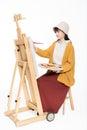 Cute beautiful girl painter Royalty Free Stock Photo