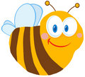 Cute bee cartoon character Stock Photography