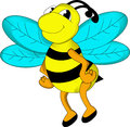 Cute bee cartoon illustration of Stock Images