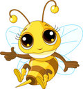 Cute Bee Showing Royalty Free Stock Images