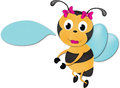 Cute bee with sign Stock Image