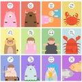 Cute big fat twelve zodiac cartoon