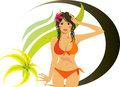 Cute bikini girl Royalty Free Stock Photos