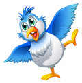 A cute bird illustration of on white background Stock Images