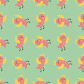 Cute birds fly wings seamless pattern vector illustration cartoon colorful