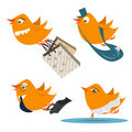 Cute birds vector Royalty Free Stock Image