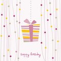 Cute birthday card Stock Photos