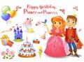 Cute birthday design elements