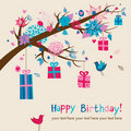 Cute birthday's card Royalty Free Stock Photography