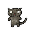 Cute black cat cartoon Royalty Free Stock Photography