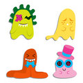 Cute Blobby Monsters Royalty Free Stock Photography