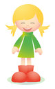 Cute blond girl laughing vector with happy face for your website or presentation Stock Photo