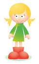 Cute blond girl smiling vector with happy face for your website or presentation Stock Image