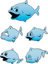 Cute Blue Fish Royalty Free Stock Photos