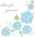 Cute blue  floral background Stock Images