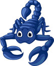 Cute blue scorpion cartoon illustration of Stock Images