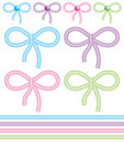 Cute bows Royalty Free Stock Images