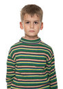 Cute boy anger Stock Photography