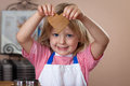 Cute boy baking ginger bread cookies Royalty Free Stock Photo