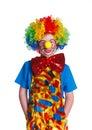 Cute boy clown Royalty Free Stock Photo
