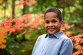 Cute boy in garden Royalty Free Stock Photo