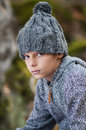 Cute boy portrait with hat Stock Images
